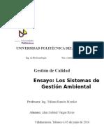 Ensayo Acerca de Los Sistemas de Certificación de La Gestión Medioambiental