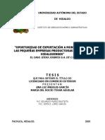 Oportunidad de Exportacion a Montreal TESIS