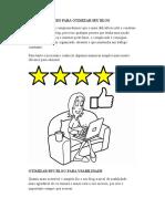 8 Dicas Eficazes Para Otimizar Seu Blog