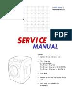 Cover  Máquina Lavar Samsung WM1245ADSXAX