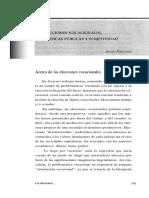Elecciones Vocacionales Politicas Publicas y Subjetividad / Sergio Rascovan
