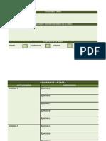 Planilla para diseño, análisis y evaluación de las tareas por competencias básicas