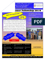LEAD Summer Fellowship 2010