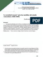 Carmen l. Paz r. - La Sociedad Wayuu Ante Las Medidas Del Estado Venezolano (1840-1850)