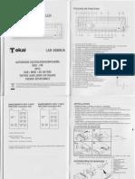 TOKAI LAR 208MUA Notice Mode Emploi Guide Manuel PDF