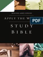 NKJV Apply the Word Sample - Book of Matthew