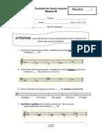 Examen de théorie musicale niv 3 - V6