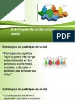 Estrategias de participación social 201345