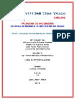 Impacto de Los Relaves Mineros en El Perú