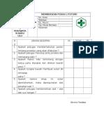 Daftar Tilik Memberikan Posisi Litotomi