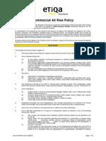 EIB en Commercial All Risks Policy