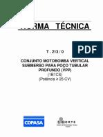 NORMA TECNICA T.213-0 Copasa Conjuntomotobomba