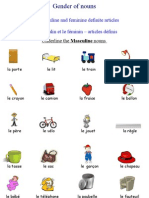 French Worksheets - Gender of Nouns - French Definite Articles