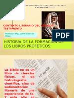 Historia de la formación de los libros proféticos