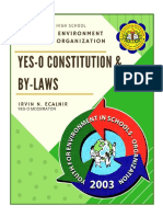 Youth for Environment in School Organization (YES-O) Constitution and By-Laws