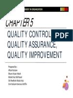 Quality Control Quality Assurance Quality Improvement