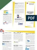 Triptico de Organismos e Instituciones Cientificas y Tecnologicos Dedicados a La Promosion y Difusion