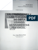 Valorizaciones y Liquidaciones de Obra Jorge Blanco Ruiz