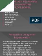 Sistem Jasa Pelayanan Keperawatan Profesional