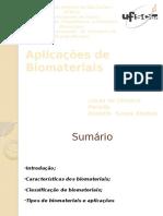 Aplicações de Biomaterias Em Biotecnologia