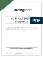 GD PI WAT Topics Handbook