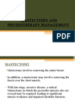 Mastectomy and Physiotherapy Management Final Year