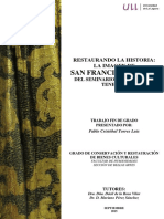 Restaurando La Historia La Imagen de San Francisco Javier Del Seminario Diocesano de Tenerife