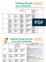 Tazewell July 2016 Group Exercise