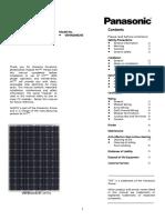 Panasonic Installation Manual
