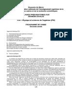 Projet Programme de Chimie PSI 31032014
