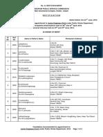 JE (Civil) Under PWD 2016 Final Result