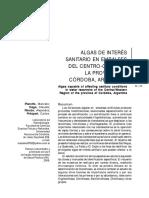 ALGAS DE INTERÉS SANITARIO EN EMBALSES DEL CENTRO-OESTE DE LA PROVINCIA DE CÓRDOBA, ARGENTINA