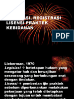 Legislasi, Registrasi Lisensi Praktek Kebidanan