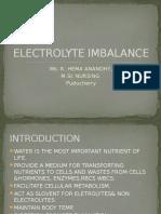 Electrolyte Imbalances
