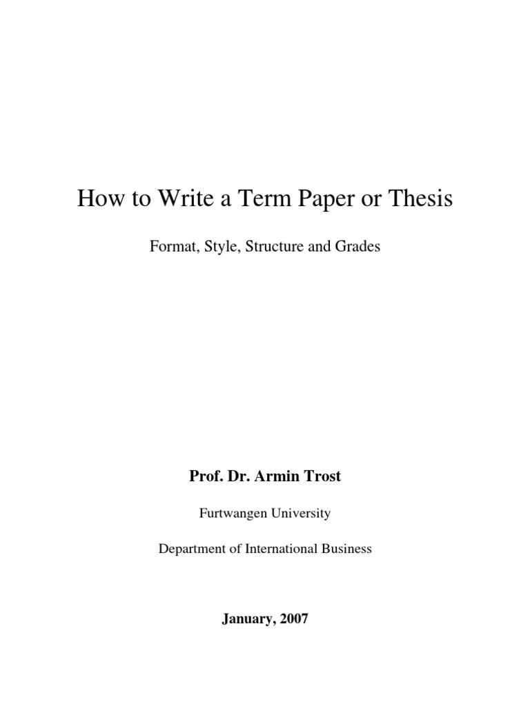 a term paper format