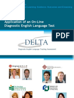 Application of an Online Diagnostic Eng Lang Test