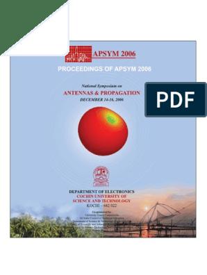 APSYM2006 | Antenna (Radio) | Ultra Wideband