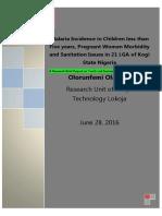 Malaria 2010 Baseline Data Talks to Public Health Actors in Kogi State Nigeria