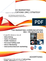 Module I Integrated Marketing Communications (IMC) Strategy