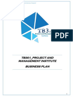 Project and Management Institute Start Up Proposal