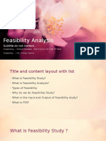 Feasibility Analysys Blossom 2