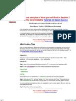 Excel VBA Vocabulary for Macros