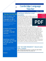 Cambridge Language TeacherSAMPLE