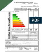 Model de Certificat de Performanţă Energetică