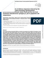 BordiComparative analysis of defence responses induced by the endophytic plant growth-promoting rhizobacterium Burkholderia phytofirmans strain PsJN and the non-host bacterium Pseudomonas syringae pv. pisi in grapevine cell suspensions