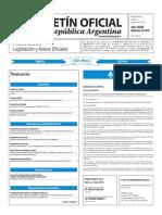 Boletín Oficial de la República Argentina, Número 33.410. 01 de julio de 2016