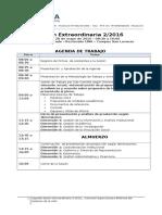 Agenda Sesión Extraordinaria 2 2016