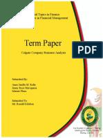 Term Paper Colgate