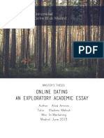 Master's Thesis - Online Dating, An Exploratory Academic Paper