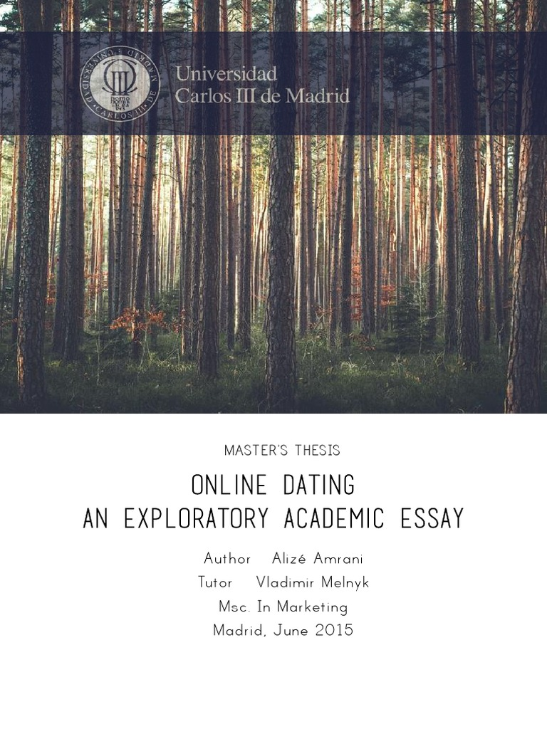 Master's Thesis - Online Dating, An Exploratory Academic Paper | Online  Dating Service | Data Mining
